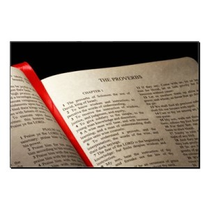 Bible opened to Proverbs Source: Christian Concepts @ Hubpages.com