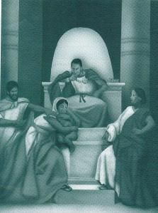 Art by Alan Hicks, Source: June-2012-COGIC-Young-Adults-Sunday School Quarterly