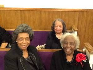 Mother Mattie Taylor (left), Mother Inez Milhouse (right) & Mother Wilie Mae Draper (back)