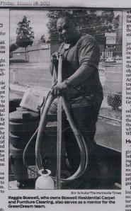 Reggie B, Owner Operator BFC Carpet Cleaning, Huntsville, AL