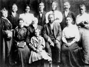 Early Pentecostals Lucy Farrow and William Seymour (African Americans) Pictured.