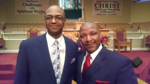 Lifelong friends: Pastor Jeffrey Robinson and Minister Lee Rice