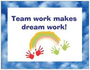 team work makes dreams works